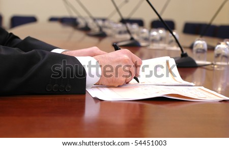 business meeting details , business concept
