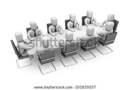 Business meeting. Image contain clipping path