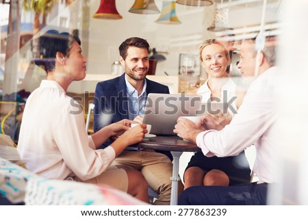 Business meeting in a cafe #277863239