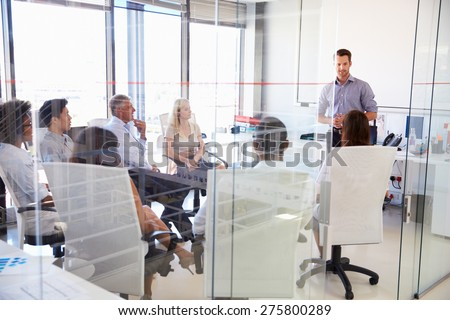 business meeting in a modern...