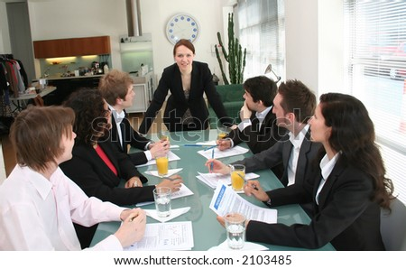 business meeting with female business leader