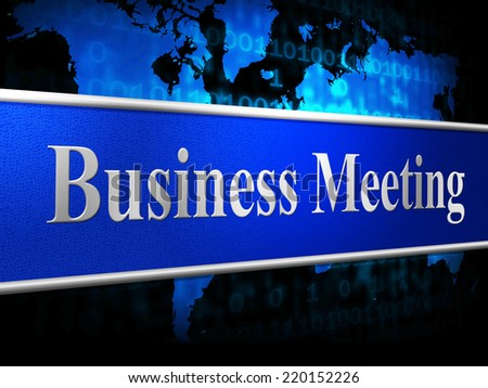 Business Meetings Representing Commercial Session And Agenda
