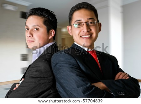 Business men at office