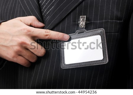 business men with his id card