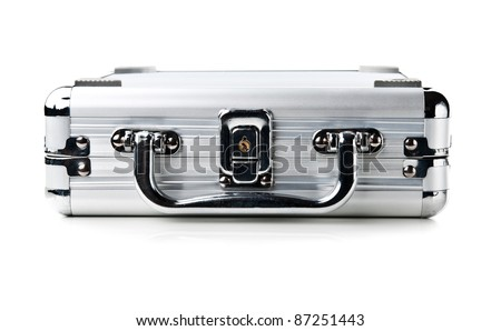 business metal case isolated on a white background