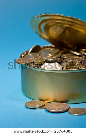 business metaphor: Russian coins in the tin, use soft filter