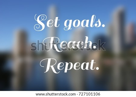 Business motivational poster - startup inspiration. Set goals. #727101106