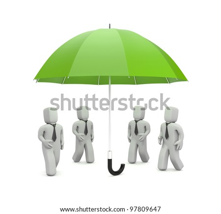 Business need protection. Image contain clipping path