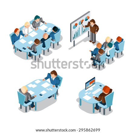 Business negotiations and brainstorming, analysis and creative office work. Idea and people, place and busy, administration businessmen working