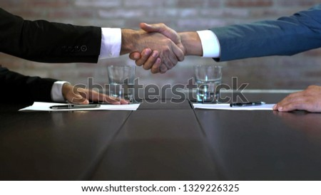 Business negotiations close up, two businessmen discussing analyzing financial data, male hand holding pen, convincing client to sign contract, emphasizing important information, negotiating skills -  #1329226325