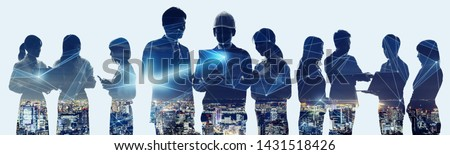 Business network concept. Group of businessperson.