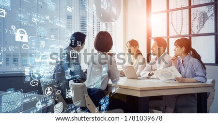 Business network concept. Group of businessperson. Teamwork. Human resources.
