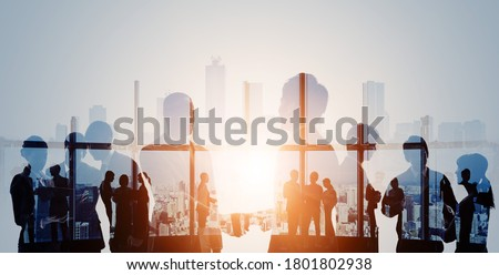 Business network concept. Group of businessperson. Teamwork. Human resources. Сток-фото ©