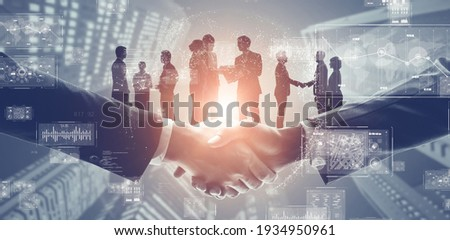 Business network concept. Management strategy. Human resources.