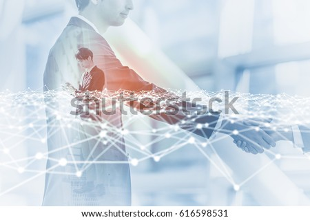 business network concept. mobile communication technology. 3D rendering. abstract image visual.