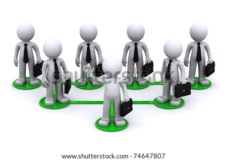 Business network connection concept. Isolated - stock photo