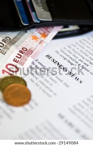 business news - stock photo