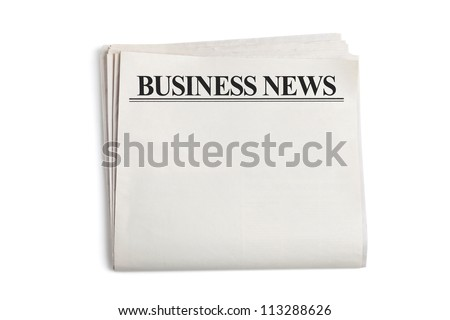 Business News, Blank Newspaper with white background