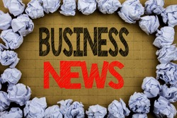 Business News. Business concept for Modern Online News written on vintage background with space on old background with folded paper balls