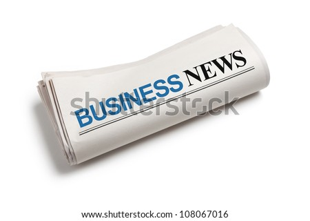 Business News Newspaper with white background