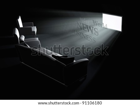 Business news on TV - stock photo