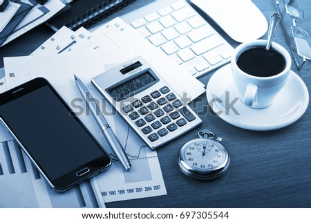 Business Objects in the office on the table #697305544