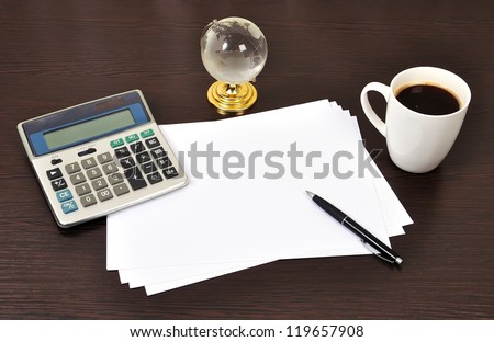 business objects on the table