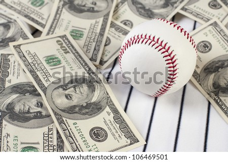 Business of baseball and money. Focus is on baseball.