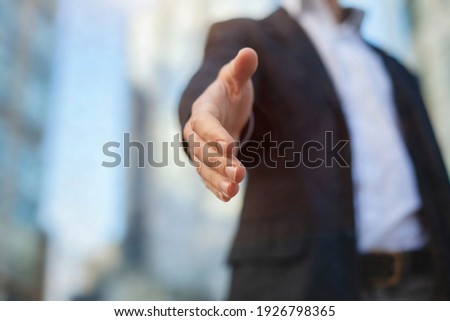 business offer or invitation, collaboration proposal welcome concept, lets work together Stock photo ©