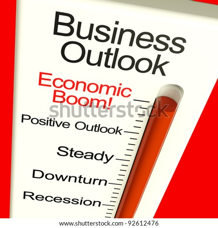 Business Outlook Economic Boom Meter Shows Growth And Recovery