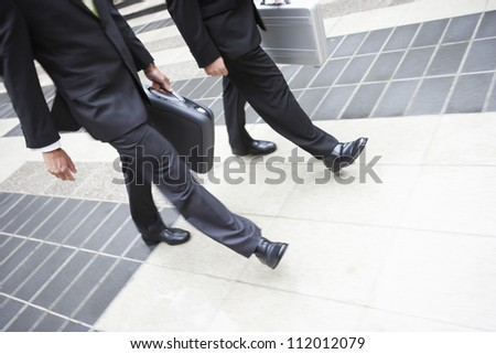 Business partners walking together