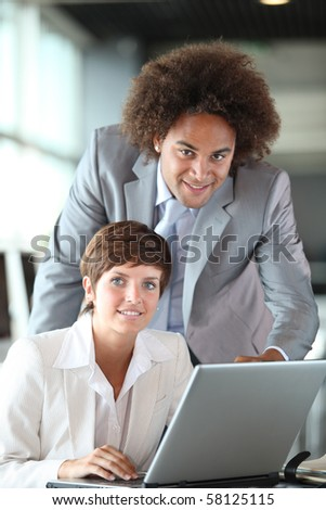 Business partners working in the office