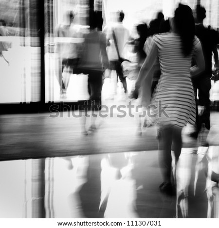 business people activity chiaroscuro abstract black and white