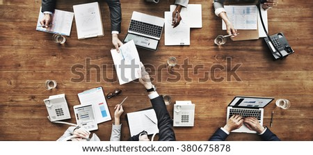Business People Analyzing Statistics Financial Concept - Shutterstock ID 380675878