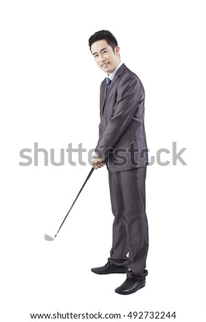 Business people and Golf Club #492732244