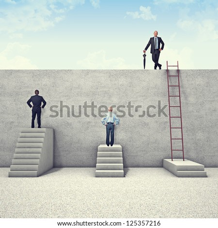 Shutterstock business people and metaphoric obstacle