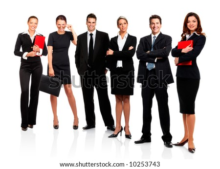 stock photo business people. stock photo : Business people and team. Isolated over white background
