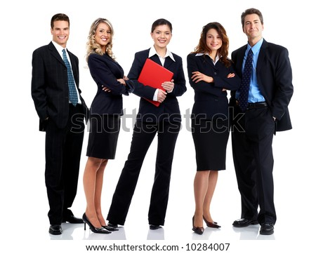 business people images. stock photo : Business people and team. Isolated over white background