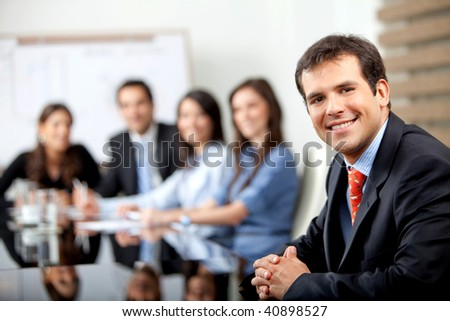 Business people at a meeting at the office