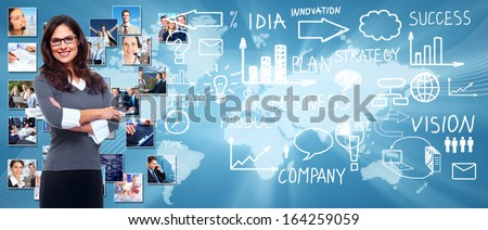 Business people banner collage background design. Success