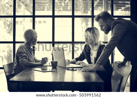 Business People Brainstorming Discussion Corporate Concept #503991562