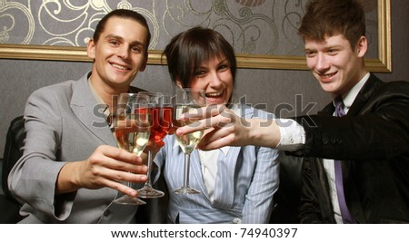 Business people celebrating victory