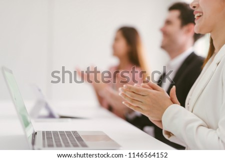 Business people clapping their hands, congratulation and appreciation concepts #1146564152