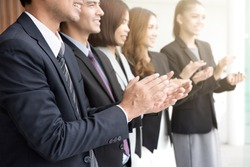 Business people  clapping their hands in the meeting, congratulation and appreciation concepts