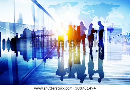 Business People Communication Connection Group Concept