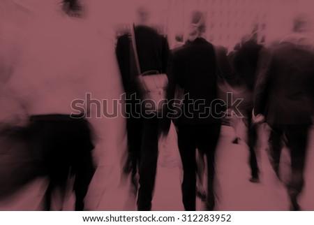 Business People Commuter Cityscape Rush Hour Concept #312283952