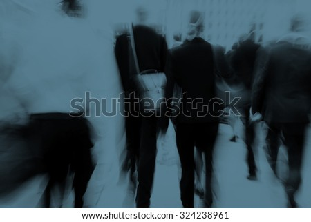 Business People Commuter Cityscape Rush Hour Concept #324238961