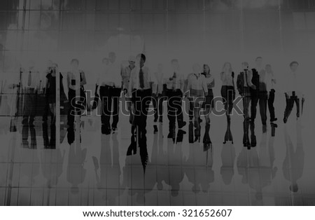 Business People Commuter Group Team Corporate Concept #321652607