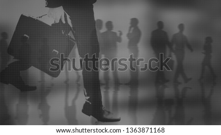 Business people commuting to work #1363871168
