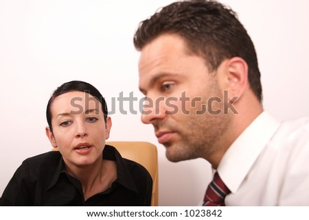 Business people converstion - close up